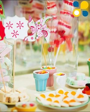 Праздничный стол на детском Дне Рождения