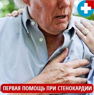 Первая помощь при стенокардии сердца